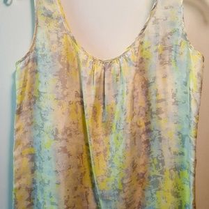 Whisper Yellow Button-back Silk Top